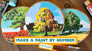 how to paint by number rounds youtube