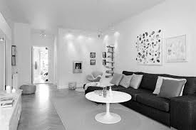 Living Room Decorating Ideas With Black Leather Furniture Black Leather Sofa Plus White Gray Cushions Also White