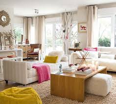 Living Room Daybed Light And Bright With White And Wood With