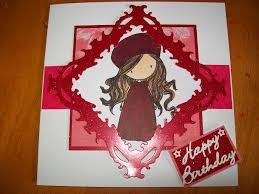 handmade red birthday card gill hill u0027s cards
