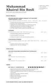 cv examples in english cuisine professional resumes sample online