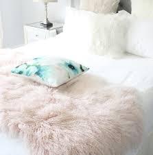 Lamb Skin Rugs Luxurious Chamapgne Pink Tibetan Sheepskin Bed Throws And Blankets