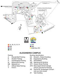 Metro Bus Routes Map by Maps Alexandria Campus Northern Virginia Community College