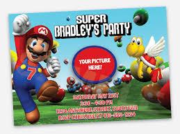 super mario birthday party invitations cimvitation