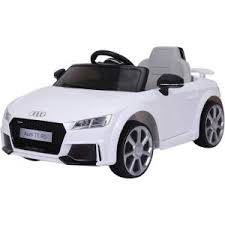 siege audi tt voiture électrique 12v audi tt rs blanche pack luxe cabriole bébé