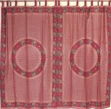 maroon elegant gold print curtains 2 cotton elephant classy