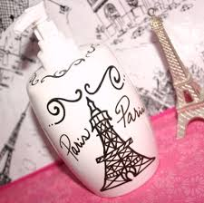 Heart Bathroom Accessories Paris Decor Themed Bathroom Accessories Eiffel Tower Soap