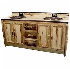 Aspen Bathroom Furniture 60 Rustic Aspen Log Bathroom Vanity Aspen Log Bath Room