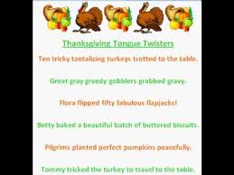 thanksgiving tongue twisters