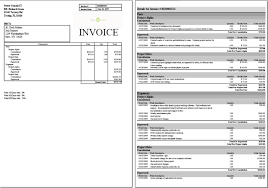 samples of invoices for services samples of invoices expin memberpro co