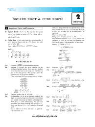 02 square root and cube roots division mathematics prime number