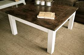 White Wood Coffee Table Awesome Wood And White Coffee Table 49 For Living Room Design