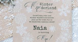 winter wonderland invitation template party theme decoration