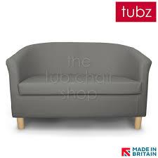 Tub Sofa Leather Sofas Tuscany 2 Seater Tub Sofa In Grey Dsz Faux Leather