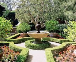 citrus garden landscape mediterranean with container plants