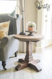 Free Wood End Table Plans by Diy Round Side Table Shanty 2 Chic