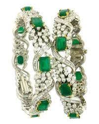 diamond emerald bracelet images Diamond and cob ruby bangles pinterest bangle diamond and jewel jpg