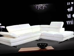 Modern White Leather Sectional Sofa by Modern White Leather Sectional Sofa Youtube