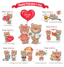 s day teddy bears two teddy bears celebrate happy s day stock vector