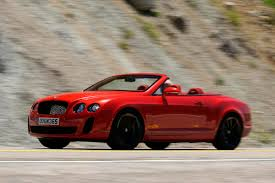 bentley convertible red bentley conti gt supersports convertible review pictures
