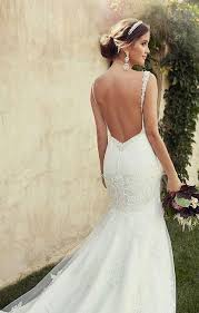 wedding dresses without straps 42 backless wedding dresses that happywedd com