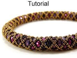bracelet bead pattern images Beading pattern tutorial bracelet necklace tubular netted stitch 42879