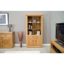open oak bookcase oak 2 door large open bookcase solid wood open