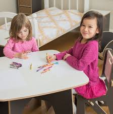 amazon com sprout modern kids table and 2 chair set grey and