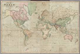 Mercator World Map by Chart Of The World On Mercator U0027s Projection David Rumsey