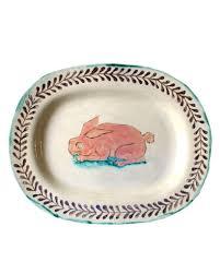 ceramic nature rabbit table l pink rabbit large platter the shop floor project