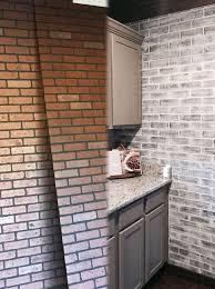 White Brick Backsplash Kitchen - best 25 faux brick backsplash ideas on pinterest faux brick