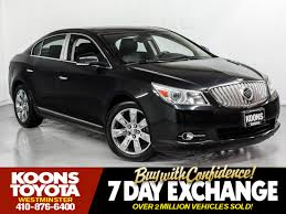 used 2011 buick lacrosse cxs for sale in westminster md vin