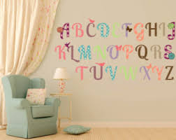 Alphabet Wall Decals For Nursery Alphabet Wall Decal Wall Decal Alphabet Nursery Decal