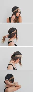 headband roll hair tutorial headband tuck treasures travels