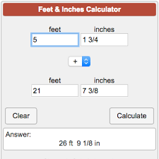 8 feet in inches calculators construction feetandinches png