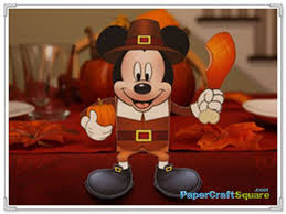 mickey mouse pilgrim box papercraft thanksgiving