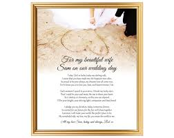 unique wedding day poem gift for bride from groom to bride