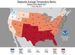 temperature map of florida national climate report march 2017 state of the climate