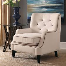 Ivory Accent Chair Ivory Tufted Back Accent Chair Accent Chairs Living Room
