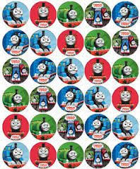 resultado de imagen para free printable thomas the train cup cake