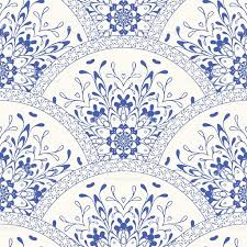 gorgeous seamless patchwork pattern blue white moroccan tiles