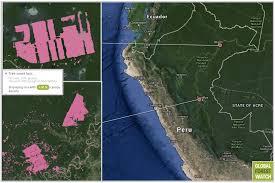 Amazon Rainforest Map Peruvian Gov U0027t Affirms Illegal Plantation Activity In Amazon