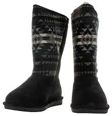 womens paw boots size 12 bearpaw kathy s aztec fringe sheepskin winter boots size 12
