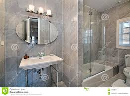 master bath with gray tile stock images image 13028964