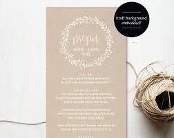 diy wedding menu cards wedding menu template menu cards blush pink blush wedding menu