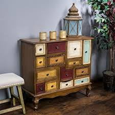 Kitchen Drawer Cabinets Amazon Com Leo Multicolor Wood Chest Of Drawers Cabinet Kitchen