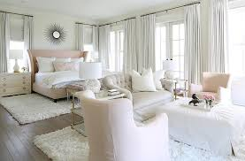 pink and gray sitting room transitional bedroom