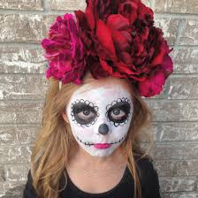 Halloween Makeup Dia De Los Muertos Day Of The Dead Makeup Half Face Dia De Los Muertos Halloween