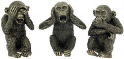 three wise monkeys bronze figurines set of 3