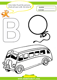 coloring letter b worksheets trace the letter b coloring page